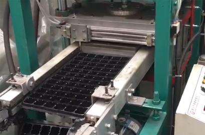 Semi-automatic seedling tray equipment